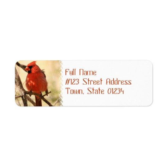 Rote Kardinals-Adressen-Etiketten