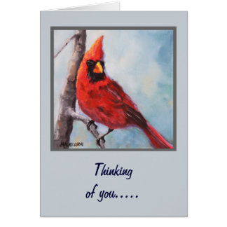 Rote Kardinals-feine Kunst-Gruß-Karte Grußkarte