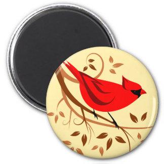 Rote Kardinals-Nordmagneten Runder Magnet 5,1 Cm