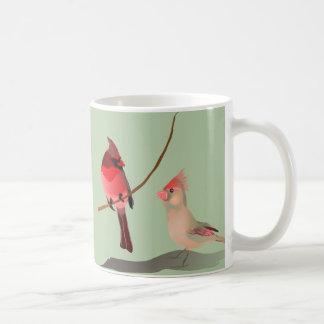 Rote Kardinals-Winter-Vögel Kaffeetasse