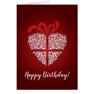 Rote Karte alles Gute zum Geburtstag mit weißer