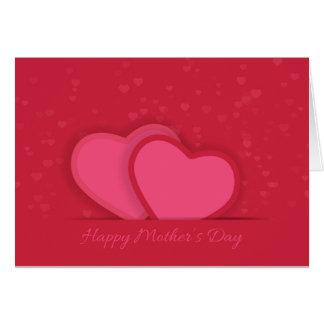 Rote Karte der Herz-Mutter Tages