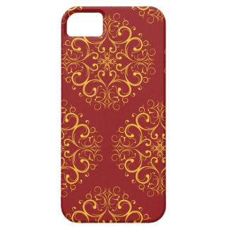 rote kastanienbraune Blumenornamen iphone5 iPhone 5 Schutzhülle