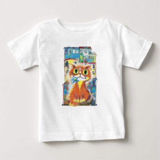 Rote Katze Baby T-shirt