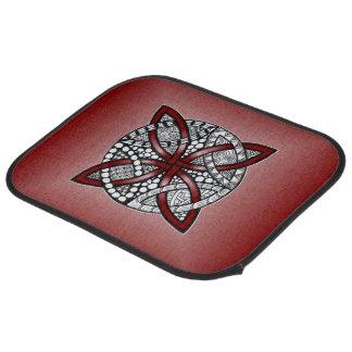 Rote keltische Knoten-Kunst-Vorlage Autofußmatte
