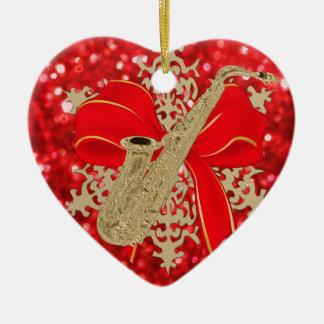 Rote Keramik Ornament