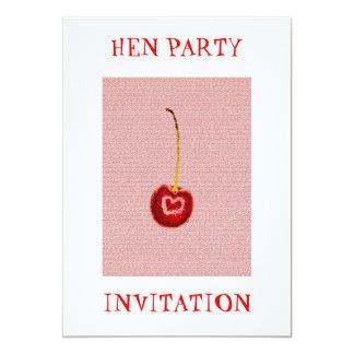 Rote Kirschhenne-Party Einladung