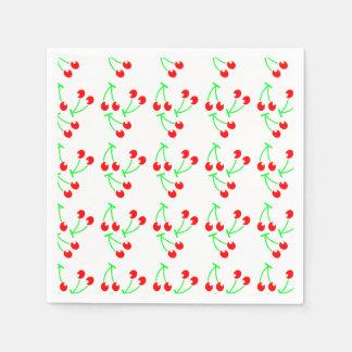 Rote Kirschsommerfrucht Papierserviette