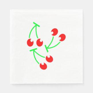 Rote Kirschsommerfrucht Papierservietten