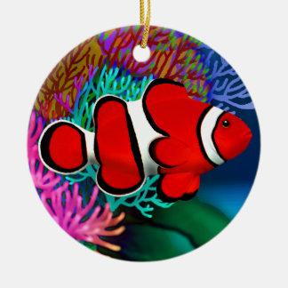 Rote Korallenriff Clownfish Verzierung Keramik Ornament