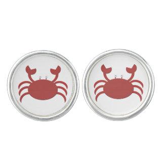 Rote Krabbe Manschettenknöpfe
