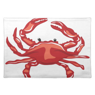 Rote Krabbe Tischset