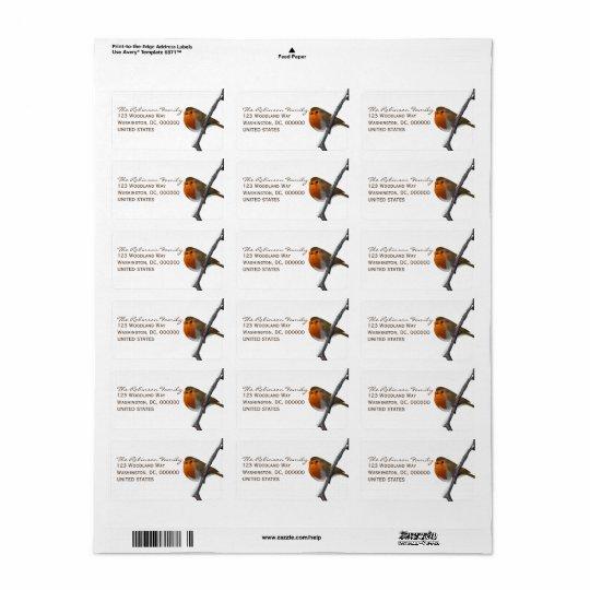 Rote kundenspezifische Adressen-Etiketten Robins Adressaufkleber