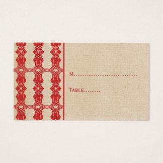 Rote Kunst-Deko-GrenzPlatzkarte Visitenkarte