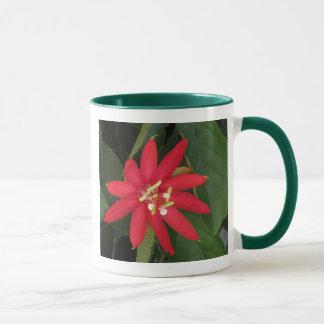 Rote Leidenschafts-Blume Tasse