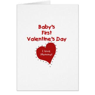 Rote Liebe-Mama-erster Valentinstag des Herz-I Karte