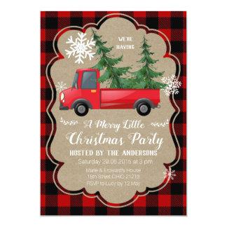 Rote LKW-Weihnachtsfeiertags-Party Einladung