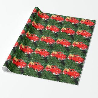 Rote LKW-Weihnachtsverzierung (1) Geschenkpapierrolle
