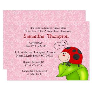 Rote Marienkäfer-Babyparty-Einladung 12,7 X 17,8 Cm Einladungskarte