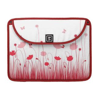 Rote Mohnblumen Rickshaw-Klappen-Hülse Sleeve Für MacBooks