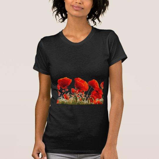 Rote Mohnblumen T-Shirt