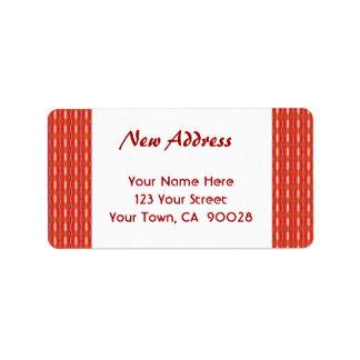 Rote neue Adresse Adressaufkleber