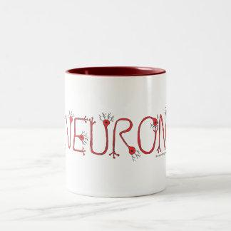 Rote Neuron-Kaffee-Tasse Zweifarbige Tasse