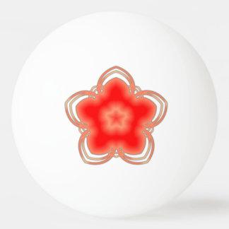 Rote Opium-Lotos-Blume Tischtennis Ball