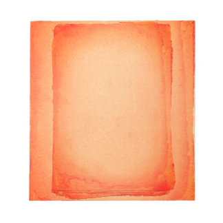 Rote Orange gemalter Bildschirmausdruck Notizblock