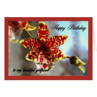 Rote Orchideen-alles Gute zum Geburtstag zu meiner Karte