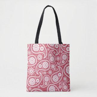 Rote Paisleybandana-Muster-Taschen-Tasche Tasche