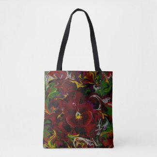 Rote Pansy-Blume Tasche