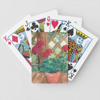 Rote Pelargonie Bicycle Spielkarten