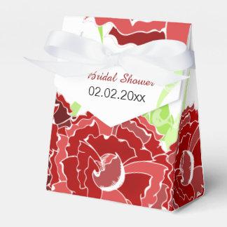 rote personalisierte Bevorzugungsmit blumenkästen Geschenkschachtel