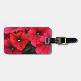 Rote Petunie-Blumen Gepäckanhänger