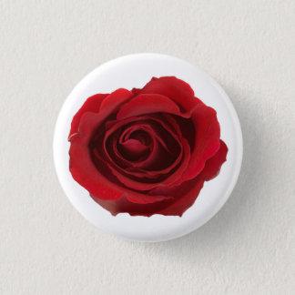 Rote photographische Rosen-Blume Runder Button 2,5 Cm