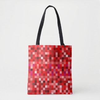 Rote Pixel Tasche