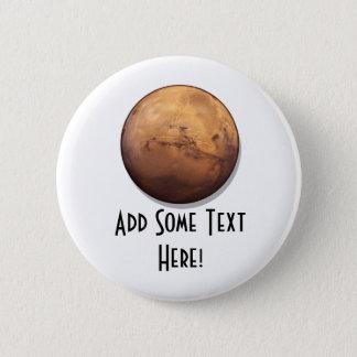 Rote Planeten-Mars Runder Button 5,1 Cm