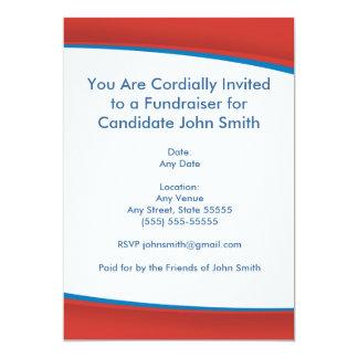 Rote politische laden ein 12,7 x 17,8 cm einladungskarte