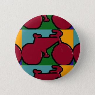 rote Popfahrrad-Silhouette Runder Button 5,7 Cm