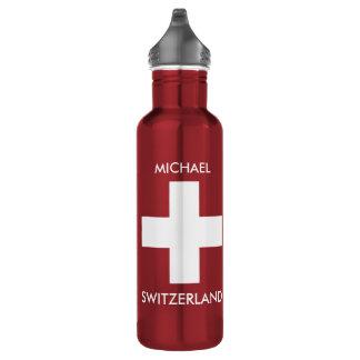 Rote Reise Schweizer Flagge der Schweiz persönlich Trinkflaschen