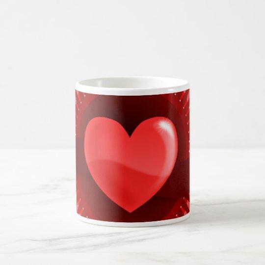 Rote rosa Liebe-Geschenke Herzvalentines Tages Kaffeetasse