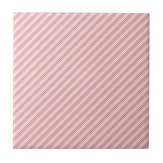 rote Rosastreifen Kleine Quadratische Fliese