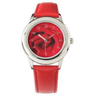 Rote Rose Armbanduhr