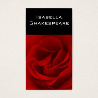 Rote Rose auf Schwarzem Visitenkarte
