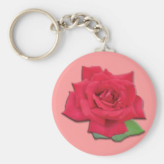 Rote Rose Keychain Schlüsselanhänger