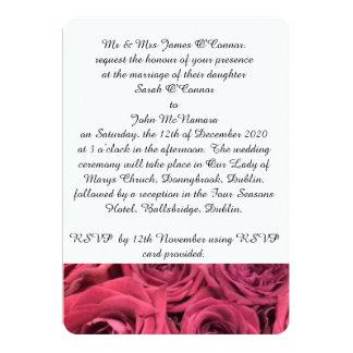Rote Rosen, die Einladung wedding sind