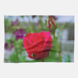 Rote Rosen Handtuch
