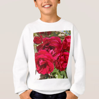 Rote Rosen in der Blüte Sweatshirt
