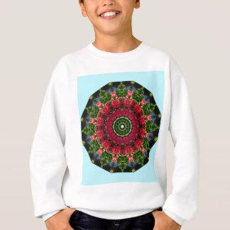 Rote Rosen, Mandala-mit Blumenähnliches Sweatshirt